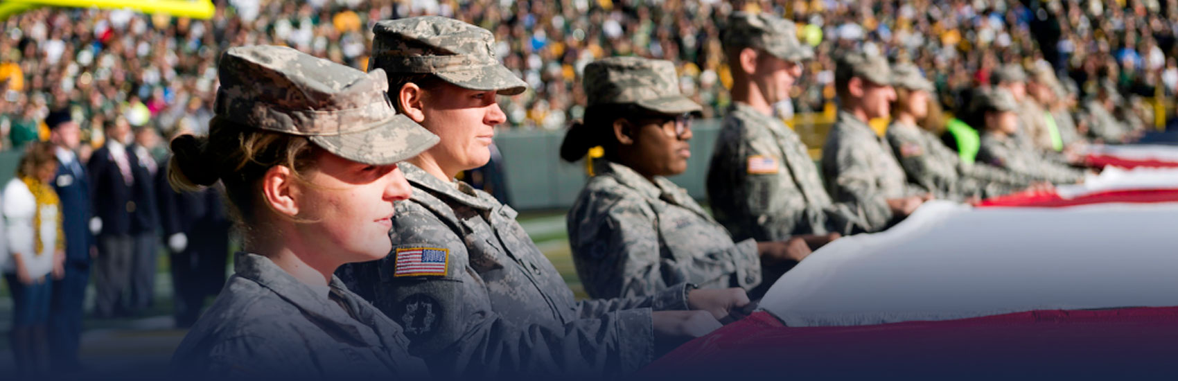 National Guard at Packer Game